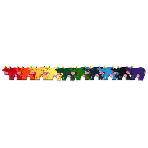 Cows Numbers Wooden Row Puzzle