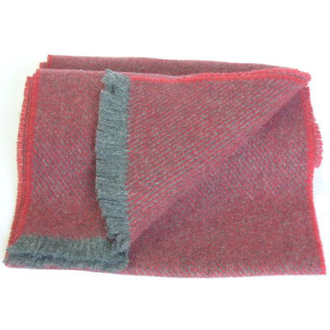 The Men's Hunter Lambswool Scarf in Oxide Colour Cushendale Woollen Mills