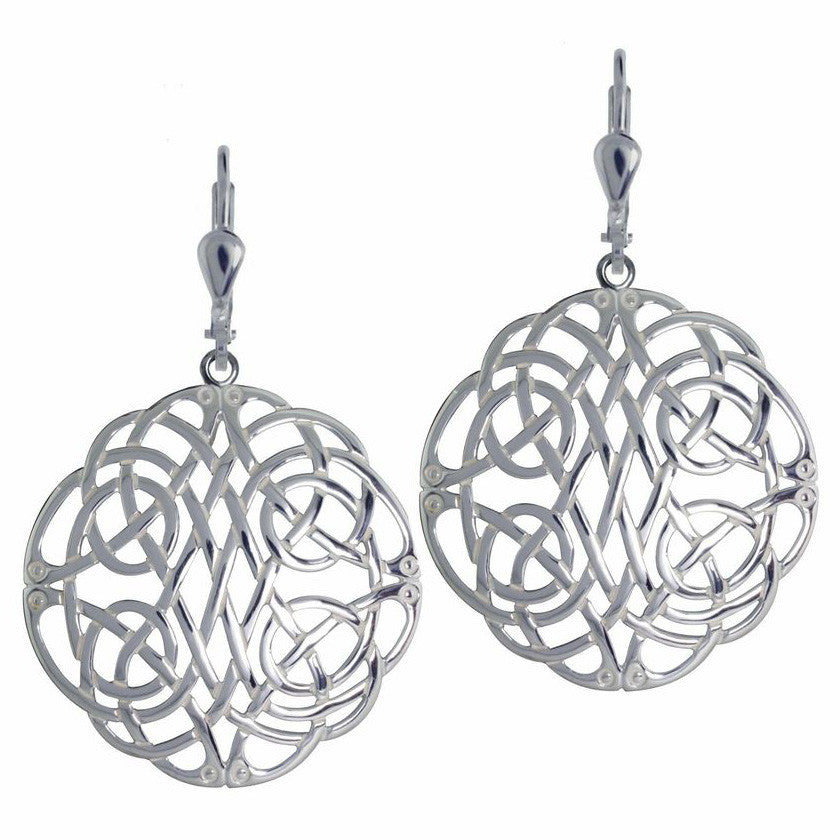 Endless Celtic Knots Sterling Silver Earrings