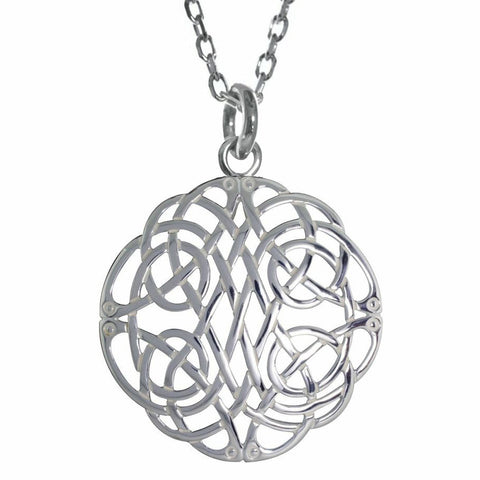 Endless Celtic Knots Sterling Silver Pendant