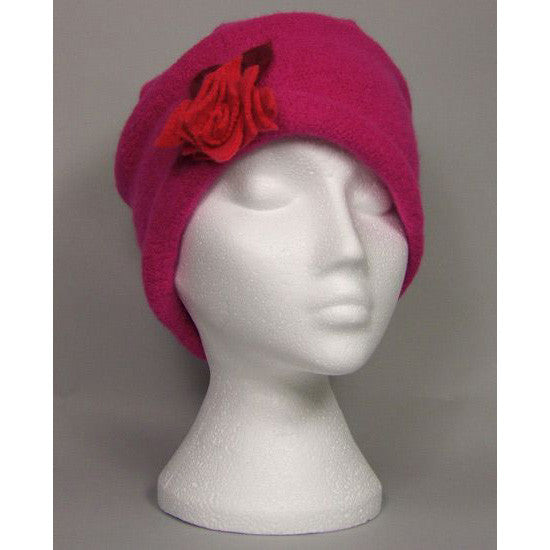 Gatsby Cerise with Green Flower
