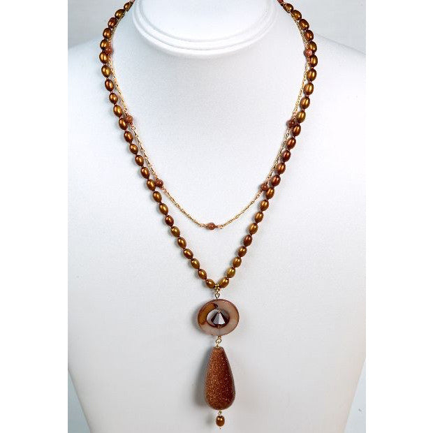 Goldstone Chain by Victoria Foutz