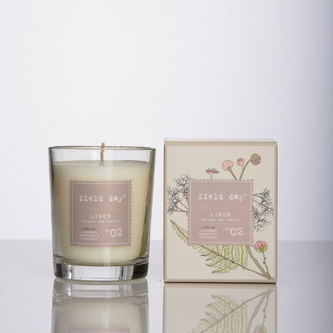 Field Day (previously Bog Standard) Irish Linen Large Fragrance Candle