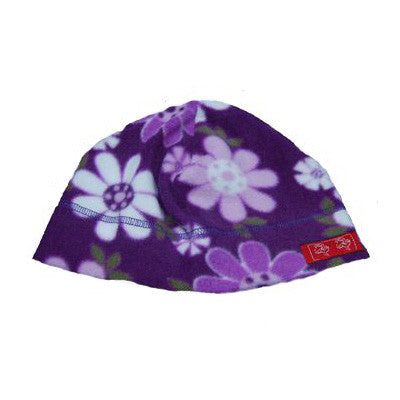 Children's Fleece Purple Flower Beanies Hat