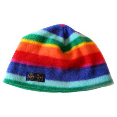 Children's Fleece Rainbow Stripe Beanies Hat