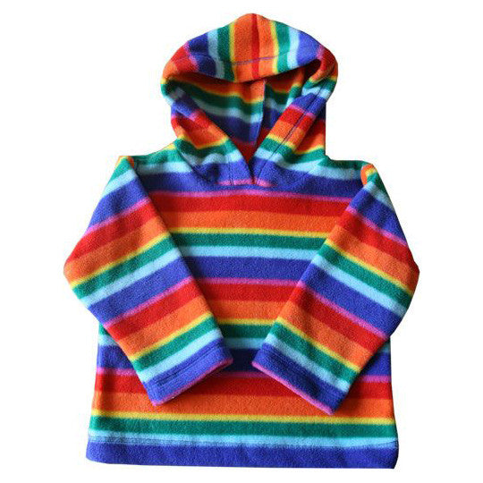 Baby gifts for first birthday christening irelands showcase childrens rainbow fleece hooded top negle Image collections