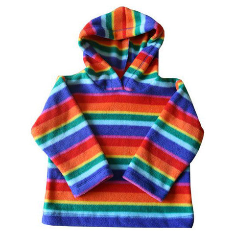Children's Rainbow Fleece Hooded Top