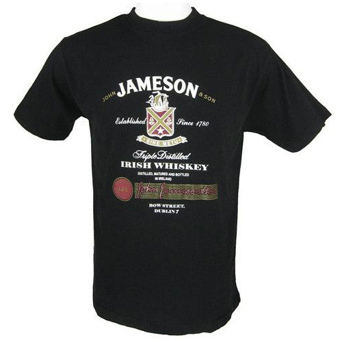 Jameson Irish Whiskey T Shirt Black