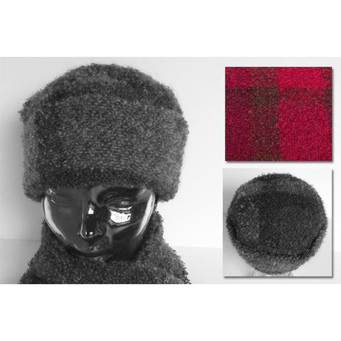 Ladies Boucle Mohair Cossack Hat