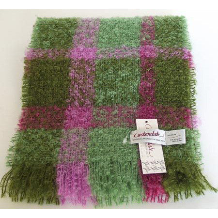 Ladies Boucle Mohair Scarf (Apple Blossom)