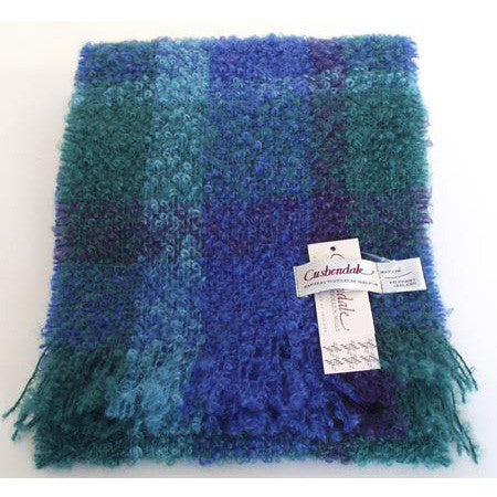 Ladies Boucle Mohair Scarf (Ascot Blue)
