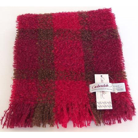 Ladies Boucle Mohair Scarf (Raja Red)