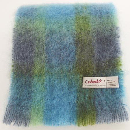Ladies Brushed Mohair Scarf (Lagoon Blue)