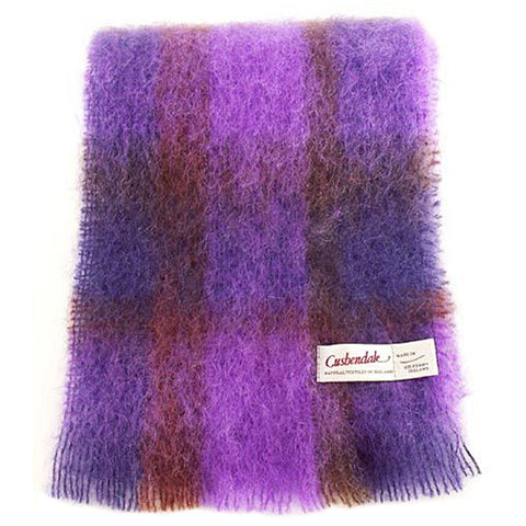 Ladies Brushed Mohair Scarf (Plum)