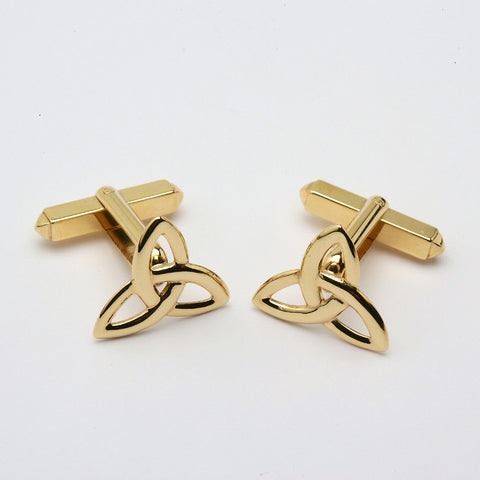Trinity Knot Cufflinks Large 14K Gold