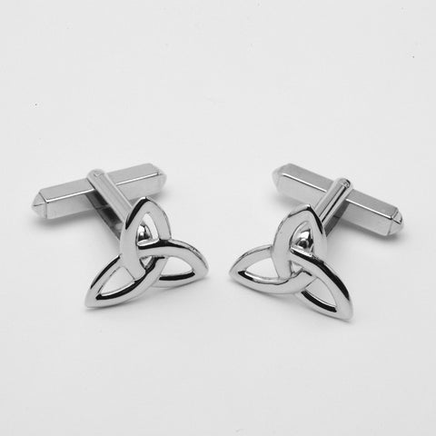 Trinity Knot Cufflinks Silver Large