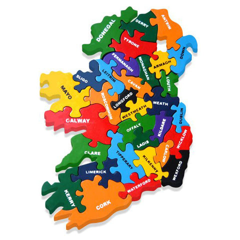 Map of Ireland Wooden Jigsaw Puzzle