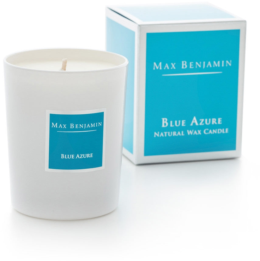 Blue Azure - Natural Wax Candle by Max Benjamin