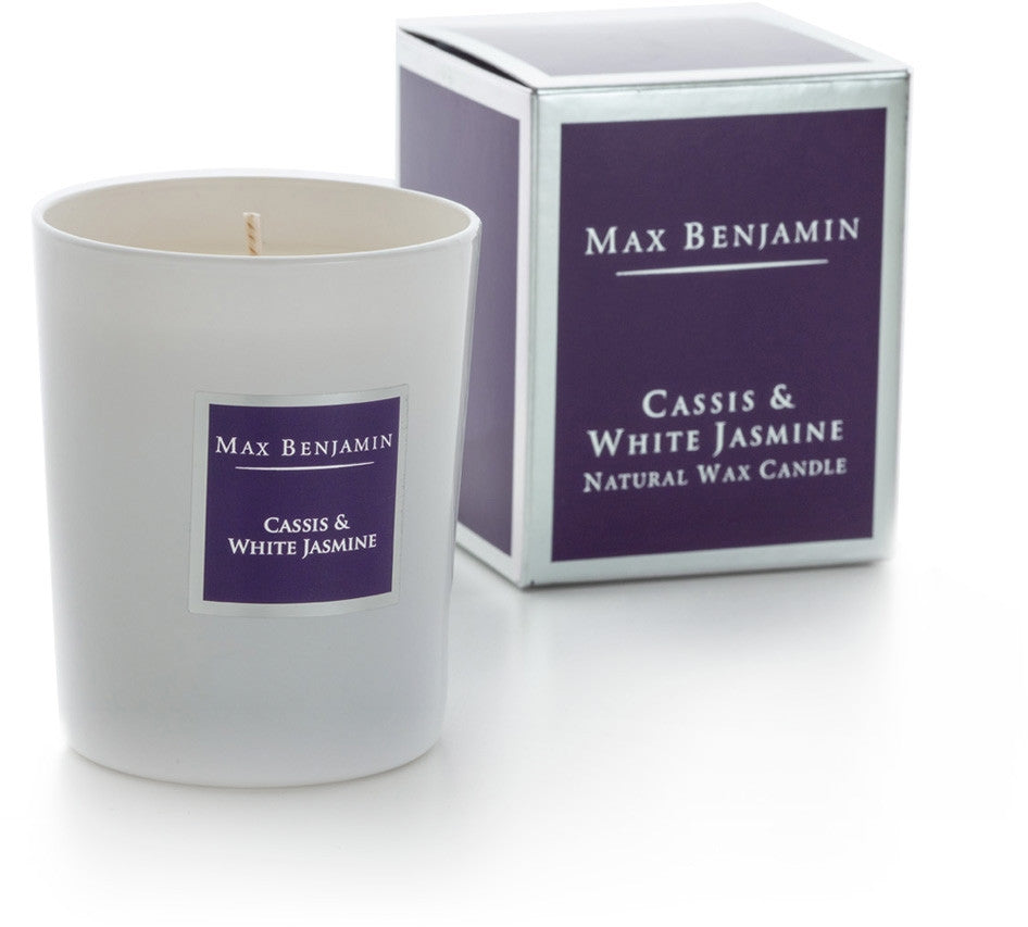 Cassis & White Jasmine - Natural Wax Candle by Max Benjamin
