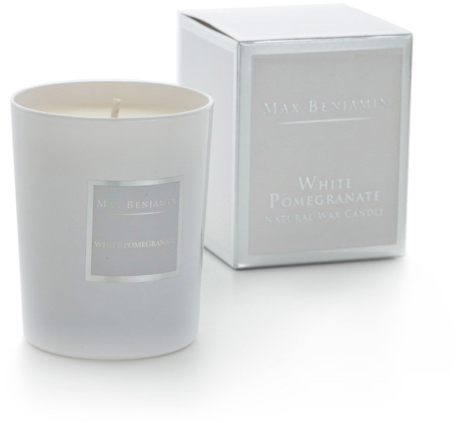 White Pomegranate - Natural Wax Candle by Max Benjamin