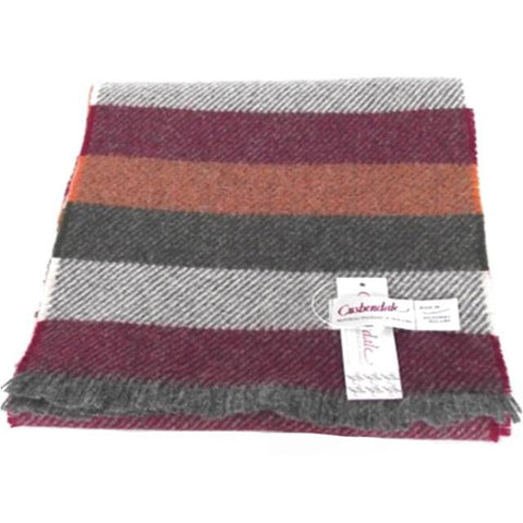 Men's College Lambswool Scarf (Wine)