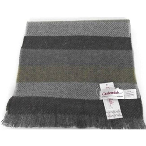Men's College Lambswool Scarf (Moss)
