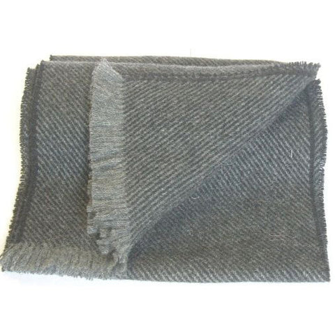 Men's Hunter Lambswool Scarf (Black)