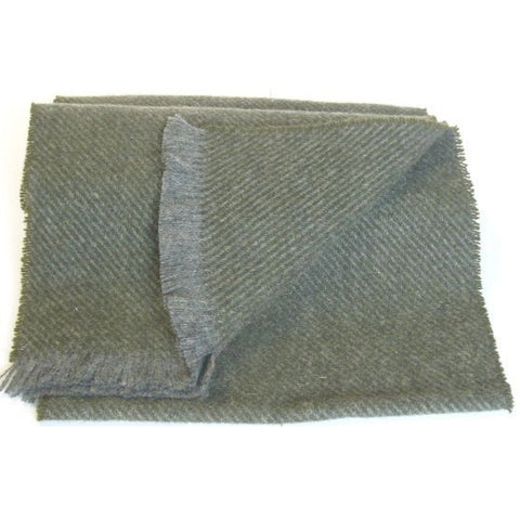 Men's Hunter Lambswool Scarf (Moss)