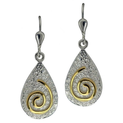 Newgrange Spiral Drop Earrings