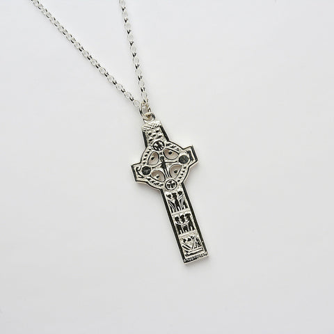 Ogham Clonmacnoise High Cross Silver