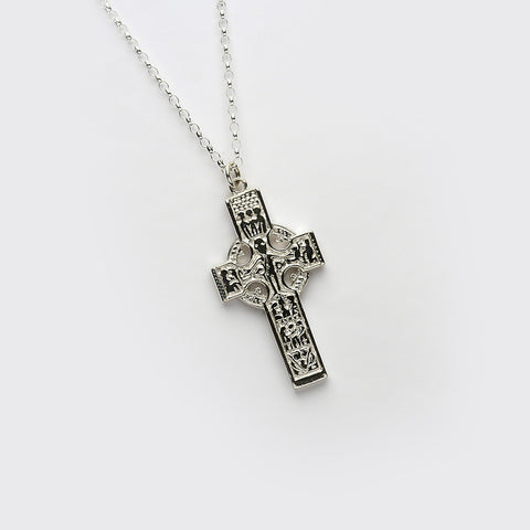 Ogham Durrow High Cross Silver