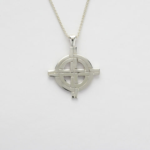 Ogham Large Old St.Pat's Chicago Cross Silver