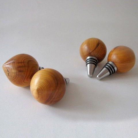 Teardrop Wine Stopper Irish Yew