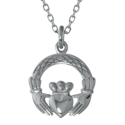 Claddagh Pendant in Sterling Silver