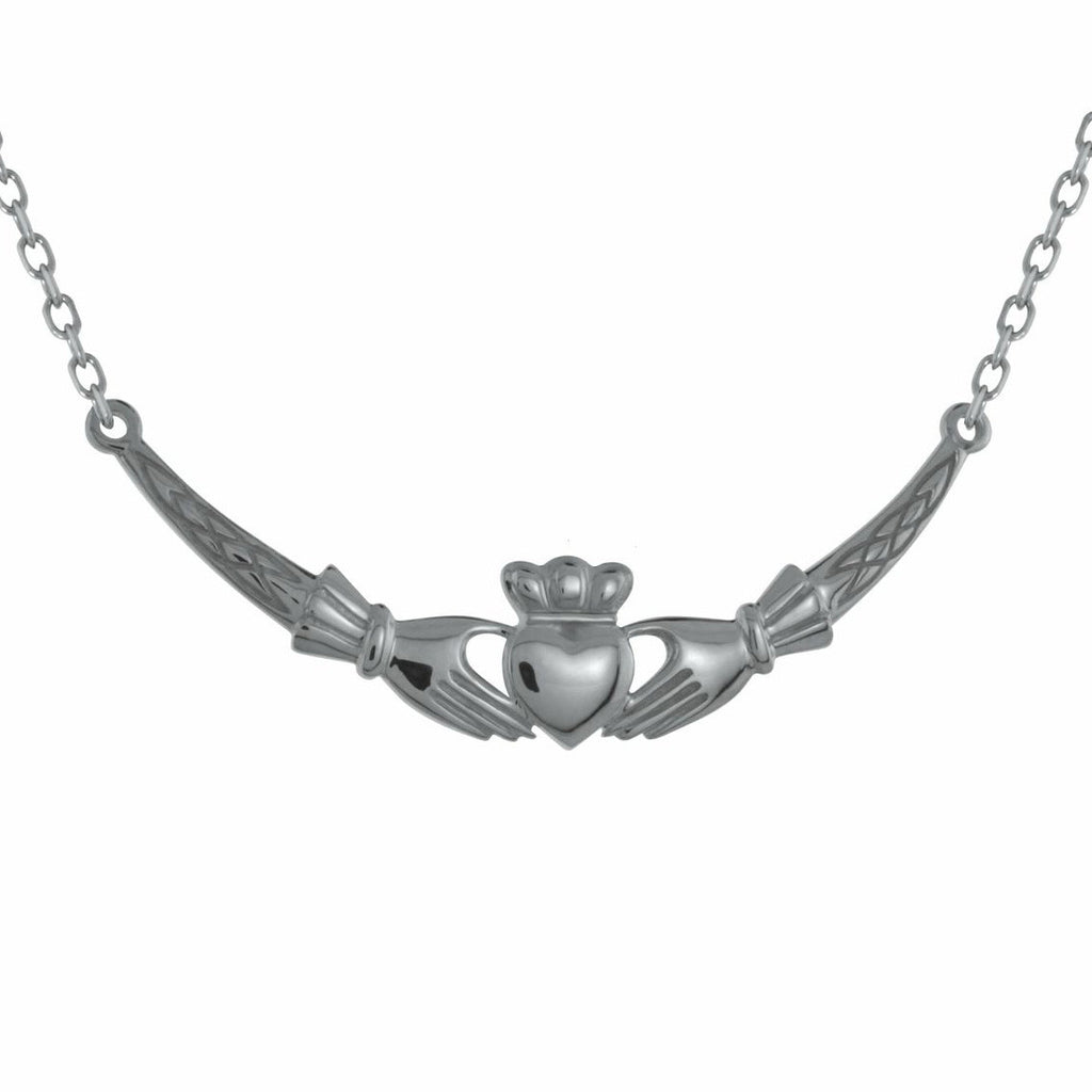 Claddagh necklace in Sterling Silver