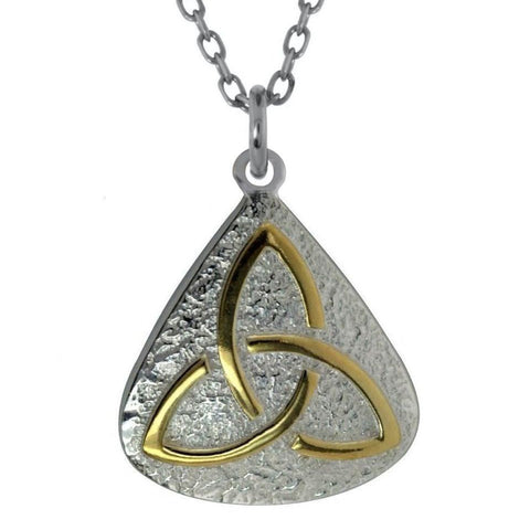 Trinity Knot Silver Two Tone Pendant