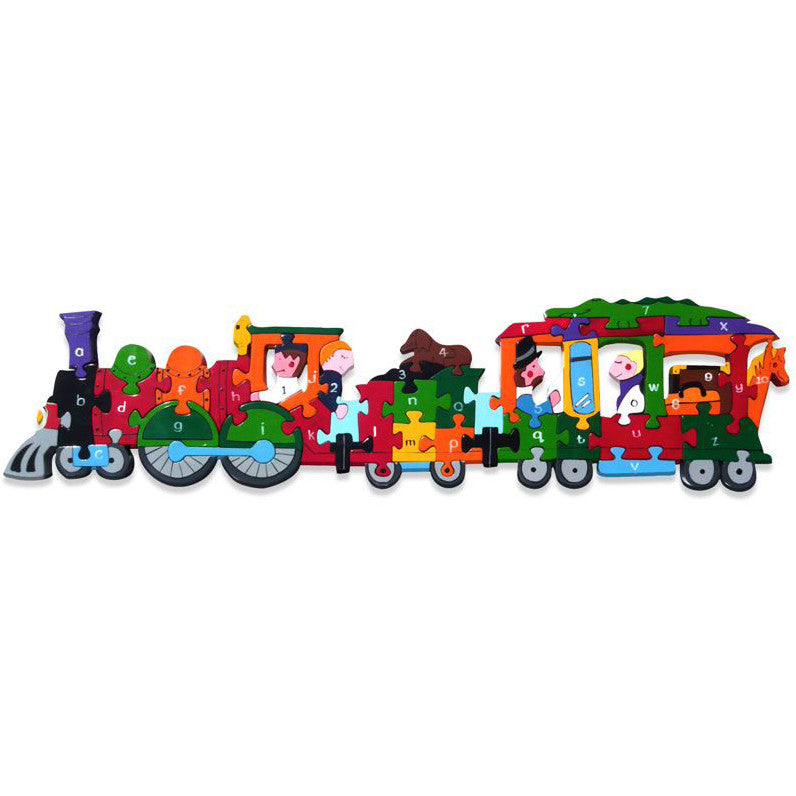 Train Alphabet Wooden Jigsaw Puzzle
