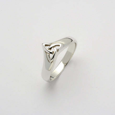 Trinity Wishbone Ring Silver