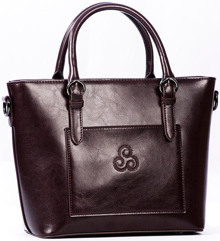 Irish Leather Tote Handbag
