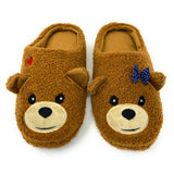 Bear Hug Furry Friends Slip-On Slippers - Oooh Yeah Socks