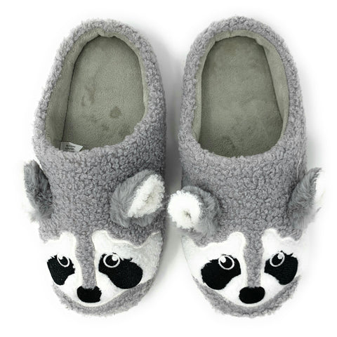 Ra Coon Furry Friends Slip-On Slippers - Oooh Yeah Socks