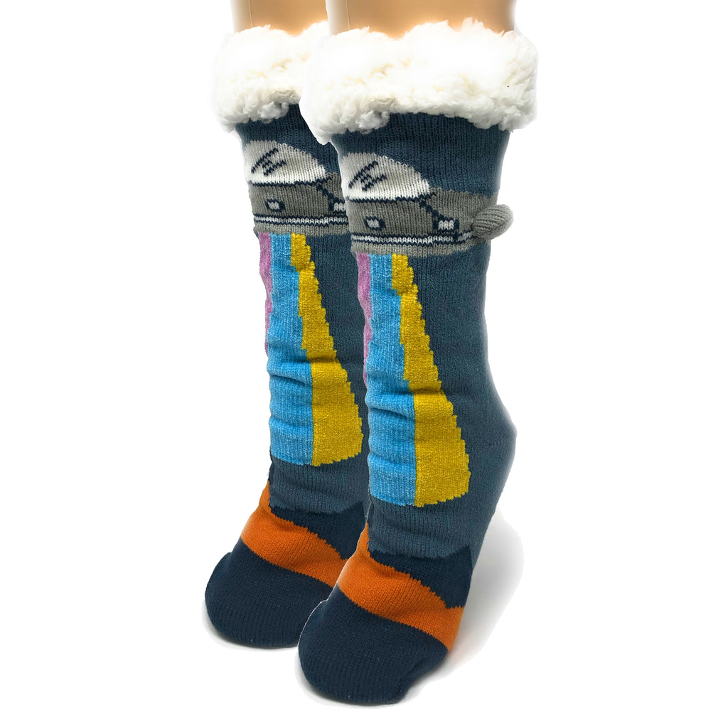 UFO Real 3D Pop Sherpa Slippers - Oooh Yeah Socks