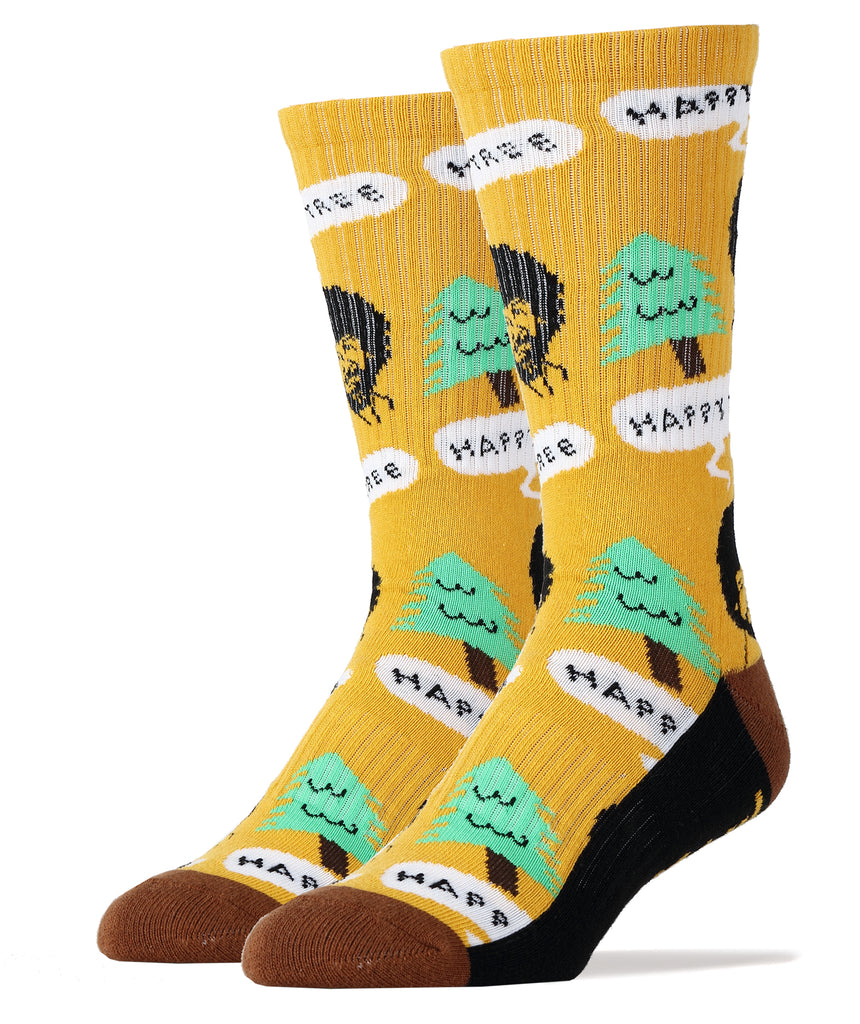 Bob Ross Happy Tree - Oooh Yeah Socks