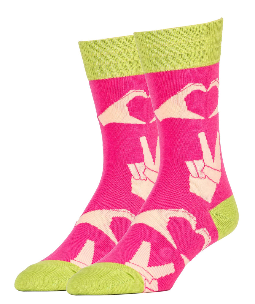 Peace and Love - Oooh Yeah Socks