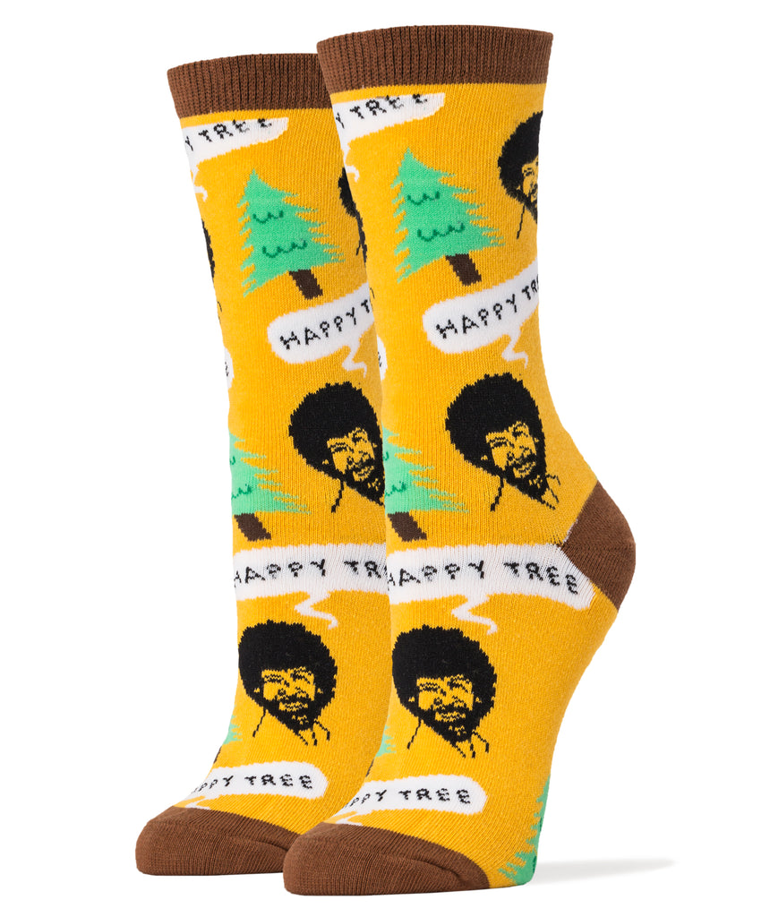 Bob Ross Happy Tree - Women's - Oooh Yeah Socks