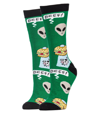 Beef Abduction - Women's - Oooh Yeah Socks