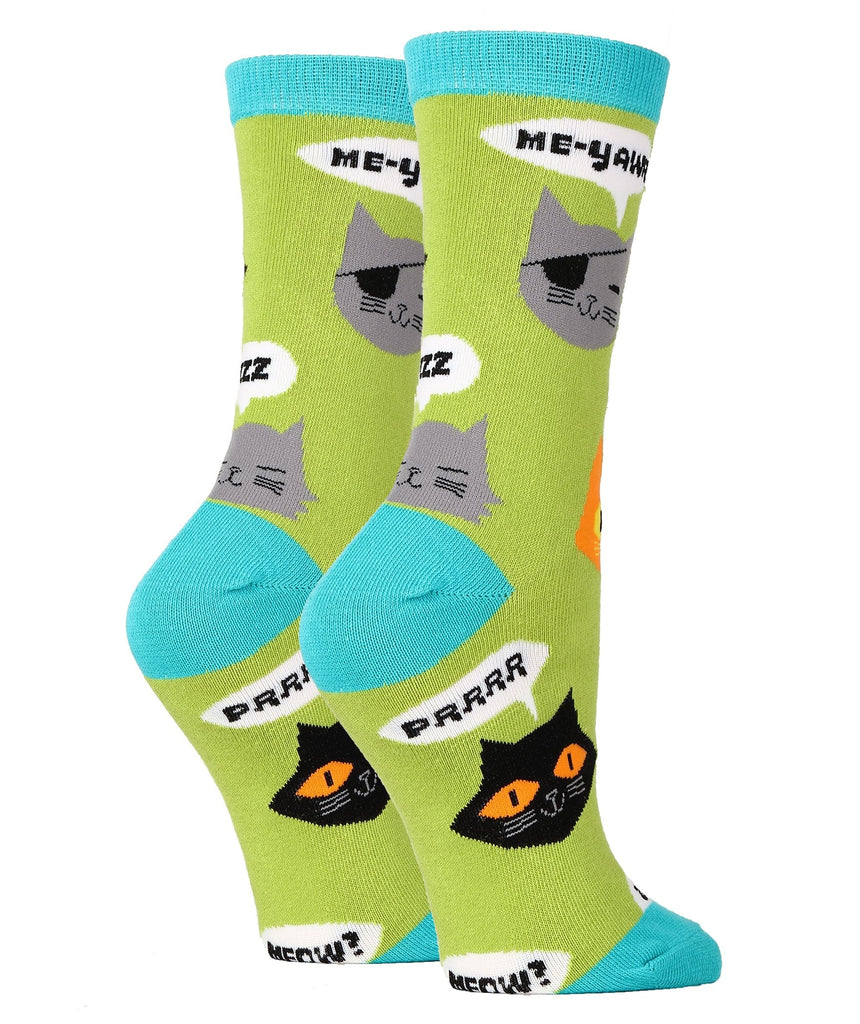 Talking Cats - Women's - Oooh Yeah Socks