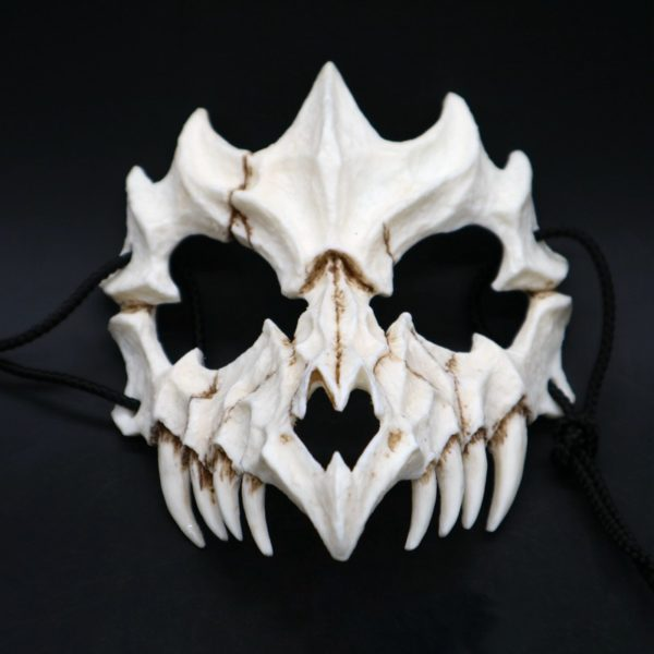 Samurai Half Face Bone Mask