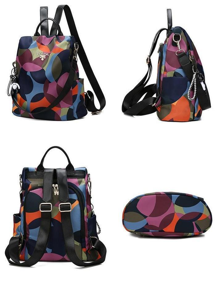 【🔥Only Today 🔥】Oxford Printing Design Anti Theft Backpack