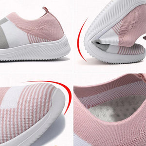 Woman Casual Fashion Knitted Slip On Sneakers